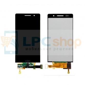 Дисплей для Huawei Ascend P6 в сборе с тачскрином Черный