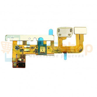 Шлейф Huawei P6 на системный разъем/микрофон/сенсор