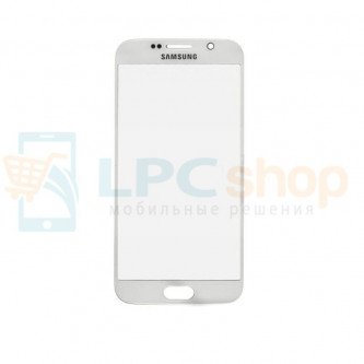 Стекло Samsung Galaxy S6 G920F Белое
