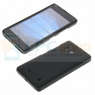 "Чехол накладка Nillkin ""Frosted"" для Microsoft Lumia 550 (RM-1127) - Черный"