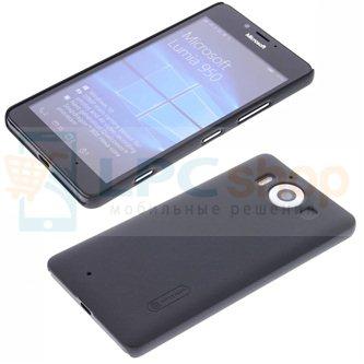 "Чехол накладка Nillkin ""Frosted"" для Microsoft Lumia 950 Dual (RM-1118) - Черный"