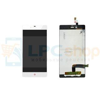 Дисплей для ZTE Nubia Z9 Mini в сборе с тачскрином Белый