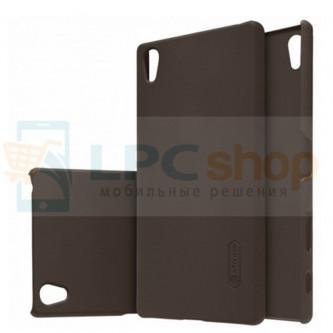 "Чехол накладка Nillkin ""Frosted"" для Sony Xperia Z5 Premium (E6853) / Z5 Premium Dual (E6833, E6883) - Коричневый"