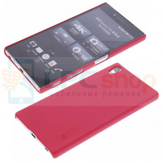 "Чехол накладка Nillkin ""Frosted"" для Sony Xperia Z5 Premium (E6853) / Z5 Premium Dual (E6833, E6883) - Красный"