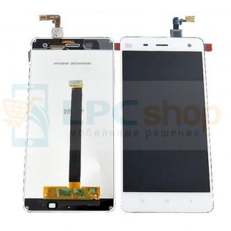 Дисплей для Xiaomi Mi4 в сборе с тачскрином Белый