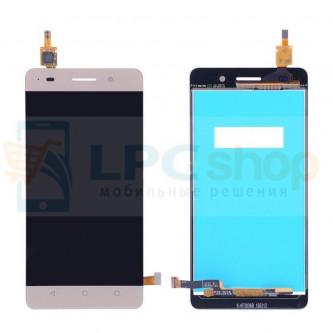 Дисплей для Huawei Honor 4C в сборе с тачскрином Золото