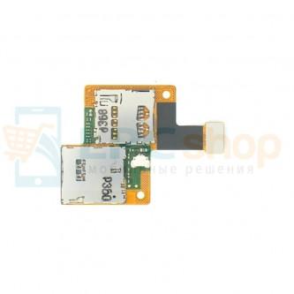 Шлейф HTC Desire 601 плата на разъем SIM карты и MicroSD