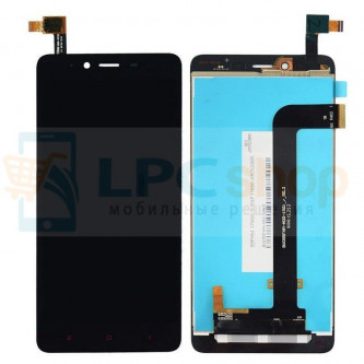 Дисплей для Xiaomi Redmi Note 2 в сборе с тачскрином Черный