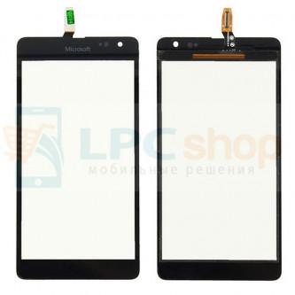 Тачскрин (сенсор) для Microsoft Lumia 535 Dual (RM-1090) (Rev. 2S) Черный