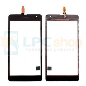 Тачскрин (сенсор) для Microsoft Lumia 535 Dual (RM-1090) (Rev. 2С) (CT2С1607FPC-A1-E) Черный