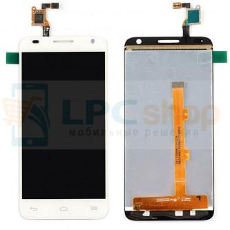 Дисплей для Alcatel OT-6036Y (Idol 2 Mini S) в сборе с тачскрином Белый