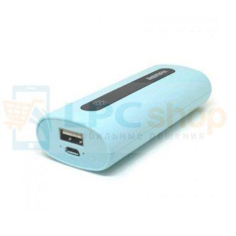 Дополнительный аккумулятор (Power Bank) Remax E5 5000 mAh (1 USB 1000 mAh) бирюзовый (PR1-004)