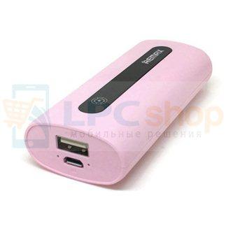 Дополнительный аккумулятор (Power Bank) Remax E5 5000 mAh (1 USB 1000 mAh) розовый (PR1-004)