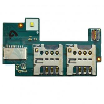 Шлейф Sony Xperia C (C2305) (плата) на разъем SIM и MicroSD