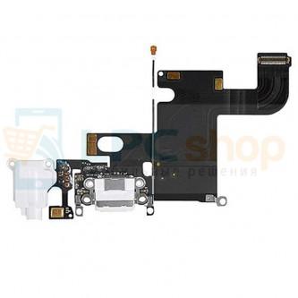 Шлейф разъема зарядки iPhone 6 и разъем гарнитуры / микрофон Белый цвет