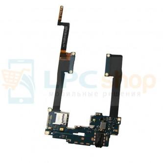 Шлейф HTC One Max (нижняя плата) на разъем MMC / гарнитуры / микрофон