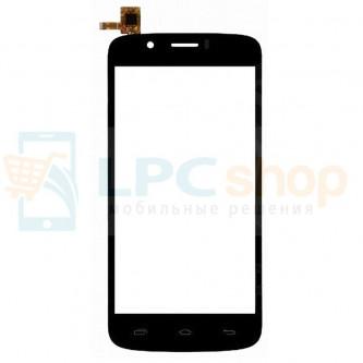 Тачскрин (сенсор) для Prestigio MultiPhone 5504 DUO Черный