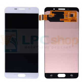 Дисплей для Samsung Galaxy A7 (2016) A710F в сборе с тачскрином Белый - Оригинал