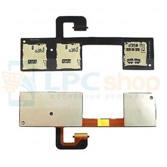 Шлейф HTC One Dual 802w на разъем SIM / MMC