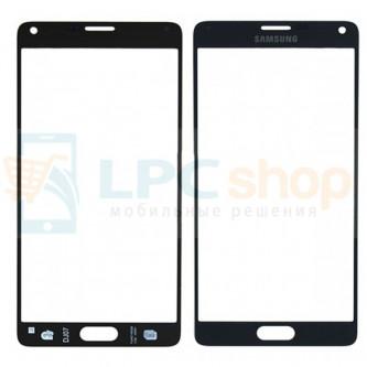 Стекло (для переклейки) Samsung Galaxy Note 4 N910C Серое