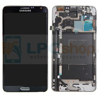Дисплей для Samsung Galaxy Note 3 N9000 в сборе с рамкой Черный - Оригинал