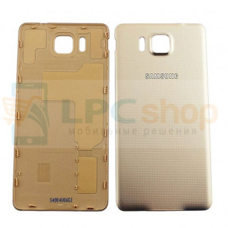 Крышка(задняя) Samsung Galaxy Alpha G850F Золотая