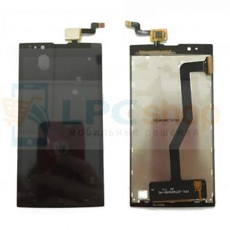 Дисплей для Micromax Q414 Canvas Blaze 4G+ в сборе с тачскрином Черный