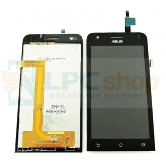 Дисплей для Asus ZC451CG (ZenFone C) в сборе с тачскрином Черный