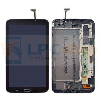 Дисплей для Samsung Galaxy Tab 3 7.0 T210 Tab 3 7.0 в сборе с рамкой Черный - Оригинал