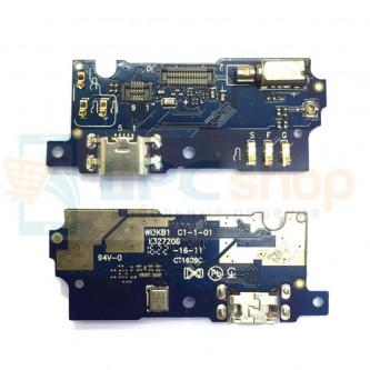 Шлейф разъема зарядки Meizu M3s mini микрофон и вибромоторт