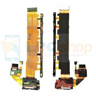 Шлейф разъема зарядки Sony Xperia Z3+ E6553 / Z3+ Dual E6533 кнопки громкости и включения