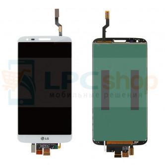 Дисплей для LG G2 D802 в сборе с тачскрином Белый (34 pin)