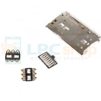 Коннектор SIM-Карты+MMC Meizu M2 mini / M3 Note