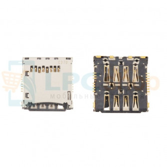 Коннектор SIM-Карты+MicroSD Sony LT25i (V) / C5502 (ZR)