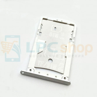 Лоток сим карты и карты памяти Xiaomi Redmi Note 3 Pro Серебро