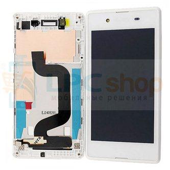 Дисплей для Sony Xperia E3 D2203 / E3 Dual D2212 в сборе с рамкой Белый - Оригинал