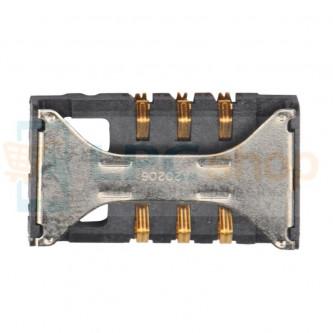 Коннектор SIM-Карты Samsung i8160 / i8190 / i8200 / E2232 / i8350 / S5260 / S5302 / S5660 / S7250 / S7270 / S7272 / S7500