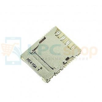 Коннектор SIM-Карты+MicroSD Samsung N9000 / N9005 / i9200 / G7102 / G900F / G355H / G360H / G530H / i9300I / N7505 / J100 / G750