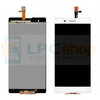 Дисплей для Sony Xperia T2 Ultra D5303 / T2 Ultra Dual D5322 в сборе с тачскрином Белый