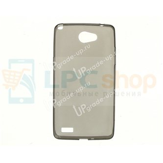Силиконовый чехол(TPU) для LG Max X155 0.5mm Серый глянцевый