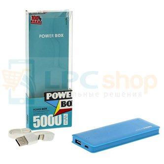 Дополнительный аккумулятор (Power Bank) Remax Candy bar 5000 mAh (1 USB 1500mAh) Голубой (RM1-012)