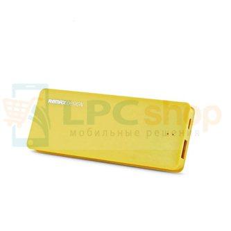 Дополнительный аккумулятор (Power Bank) Remax Candy bar 5000 mAh (1 USB 1500mAh) Желтый (RM1-012)