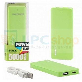 Дополнительный аккумулятор (Power Bank) Remax Candy bar 5000 mAh (1 USB 1500mAh) Зеленый (RM1-012)
