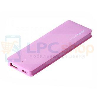 Дополнительный аккумулятор (Power Bank) Remax Candy bar 5000 mAh (1 USB 1500mAh) Розовый (RM1-012)