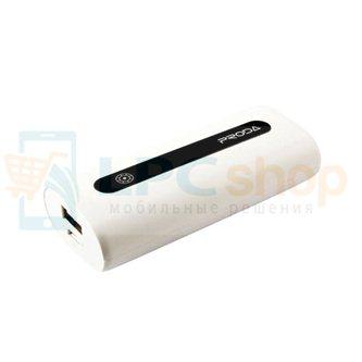 Дополнительный аккумулятор (Power Bank) Remax E5 5000 mAh (1 USB 1000 mAh) Белый (PR1-004)