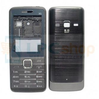Корпус Samsung S5610 / S5611 Серебро + стекло и клавиатура