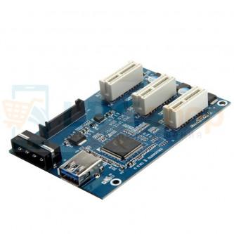 Райзер для видеокарт 1 to 3 PCI-E