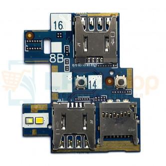 Шлейф Asus ZB551KL (ZenFone Go) на разъем SIM и MicroSD