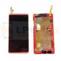 Дисплей для HTC Desire 600 Dual в сборе с рамкой Белый