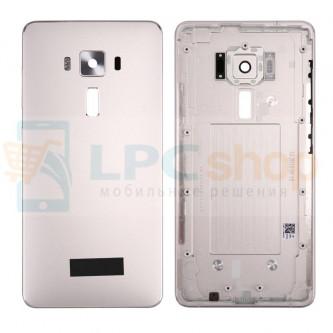 Крышка(задняя) Asus ZS570KL (ZenFone 3 Deluxe) Серебро